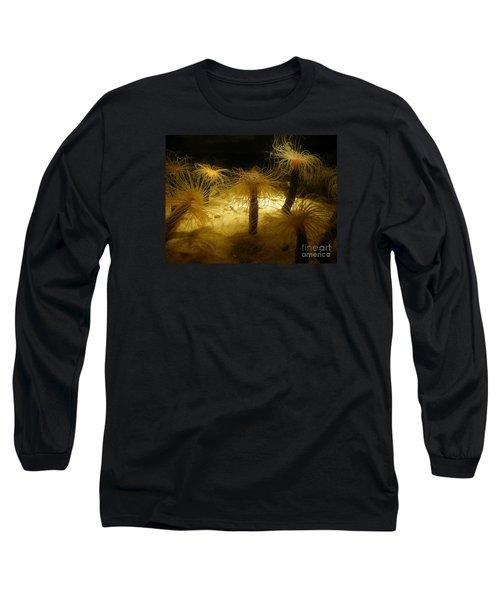 Gold Sea Anemones Long Sleeve T-Shirt
