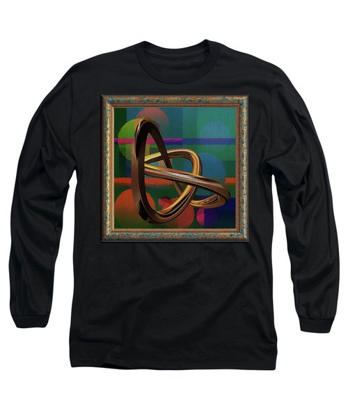 Golden Abstract Long Sleeve T-Shirt