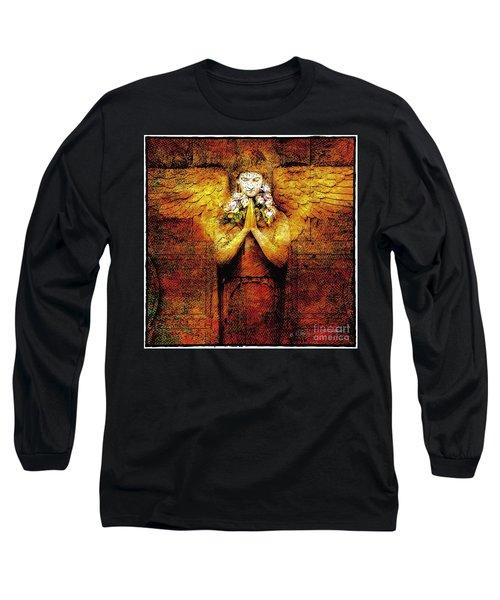 Golden Angel Long Sleeve T-Shirt by Craig J Satterlee