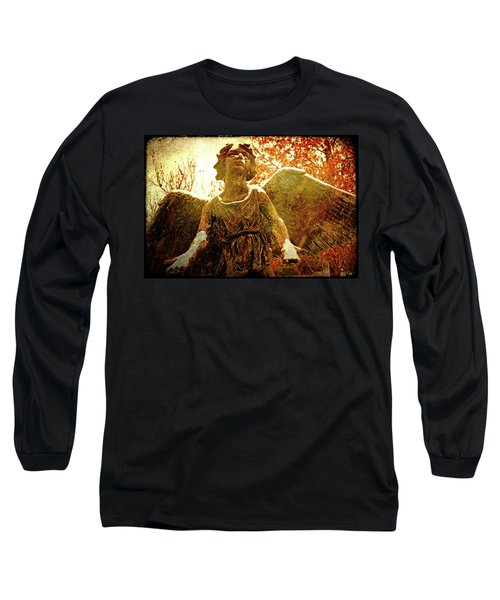 Long Sleeve T-Shirt featuring the photograph Golden Angel Of Hope by Jean Haynes