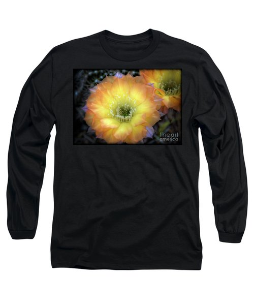Golden Cactus Bloom Long Sleeve T-Shirt
