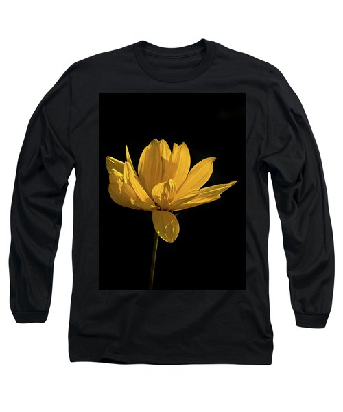 Golden Coreopsis Long Sleeve T-Shirt by Jacqi Elmslie