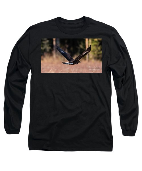 Long Sleeve T-Shirt featuring the photograph Golden Eagle Flying by Torbjorn Swenelius