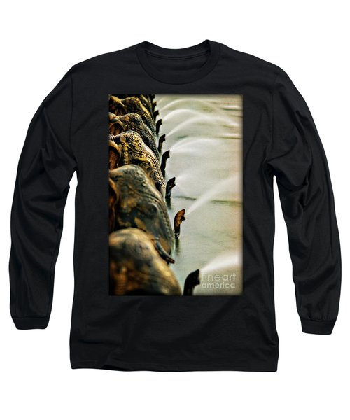 Golden Elephant Fountain Long Sleeve T-Shirt