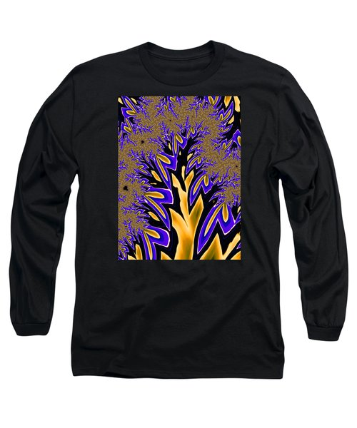Golden Fractal Tree Long Sleeve T-Shirt