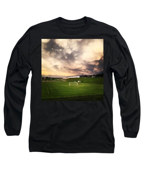 Golden Goal Long Sleeve T-Shirt by Christin Brodie