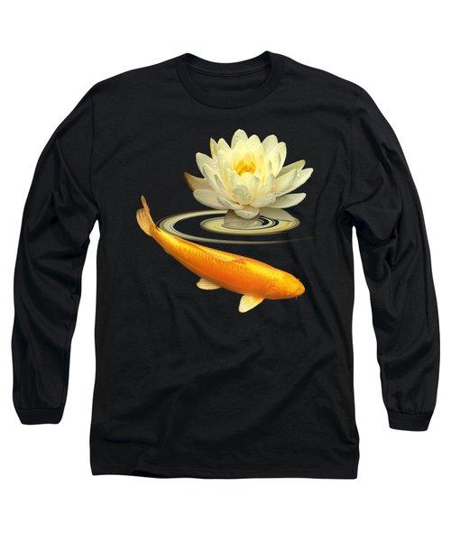 Golden Harmony Square Long Sleeve T-Shirt by Gill Billington