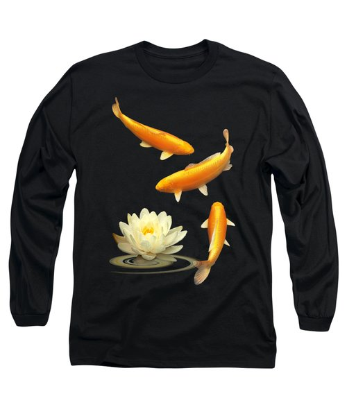 Golden Harmony Vertical Long Sleeve T-Shirt by Gill Billington