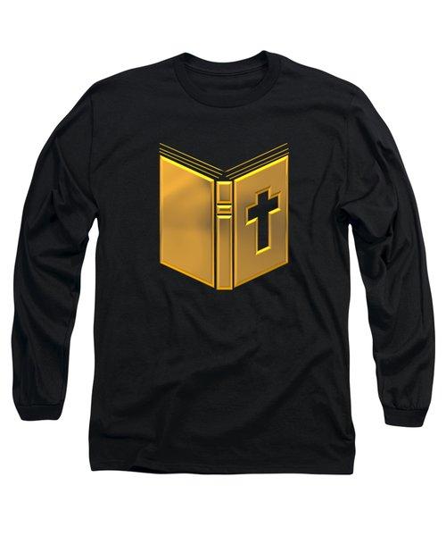 Golden Holy Bible Long Sleeve T-Shirt