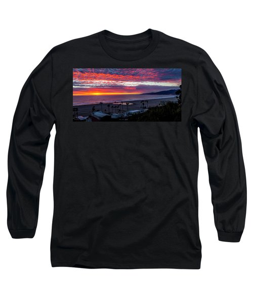 Golden Horizon At Sunset -  Panorama Long Sleeve T-Shirt