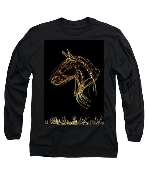 Golden Horse Long Sleeve T-Shirt