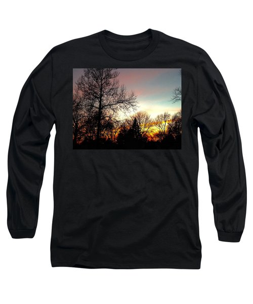 Golden Hour Brilliance Long Sleeve T-Shirt by Frank J Casella