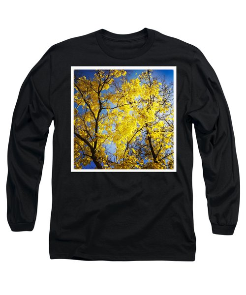 Golden October Tree In Fall Long Sleeve T-Shirt