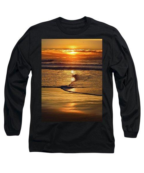 Golden Pacific Sunset Long Sleeve T-Shirt