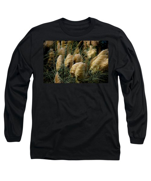 Golden Pampas In The Wind Long Sleeve T-Shirt