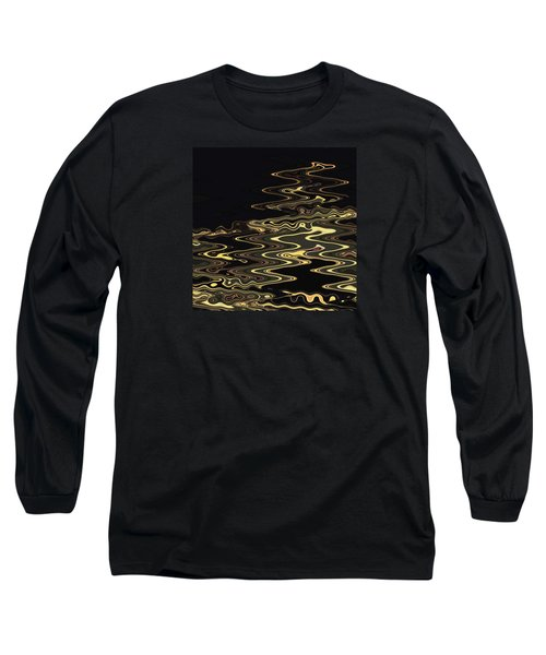 Golden Shimmers On A Dark Sea Long Sleeve T-Shirt