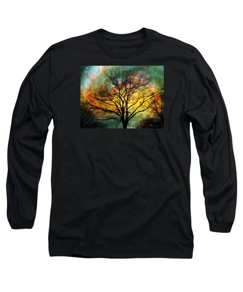 Golden Sunset Treescape Long Sleeve T-Shirt by Barbara Chichester