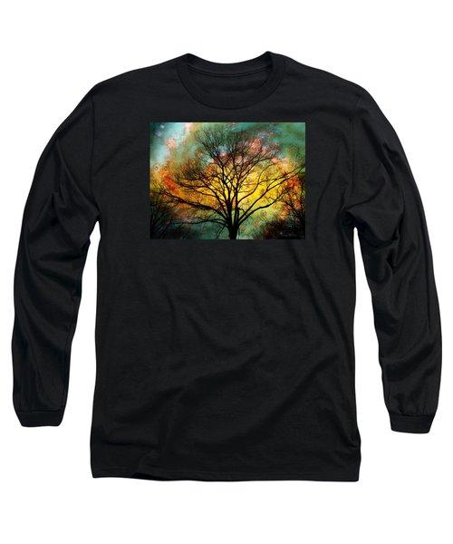 Golden Sunset Treescape Long Sleeve T-Shirt
