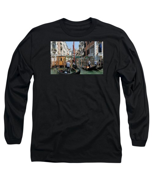 Long Sleeve T-Shirt featuring the photograph Gondoliers by Robert  Moss