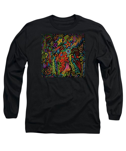 Long Sleeve T-Shirt featuring the painting Gone Wild by Kevin Caudill