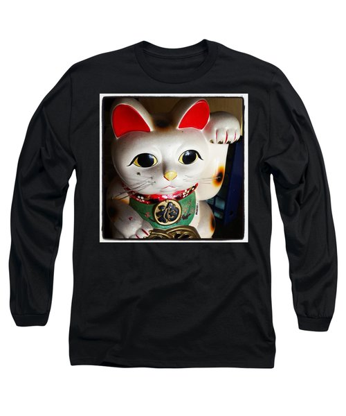 Long Sleeve T-Shirt featuring the photograph Good Meowning. #myfab5 by Mr Photojimsf