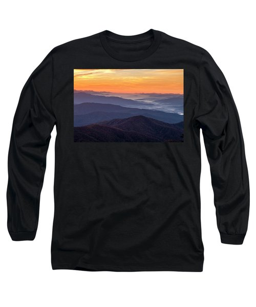 Good Morning Clingmans Dome In The Smokies Long Sleeve T-Shirt