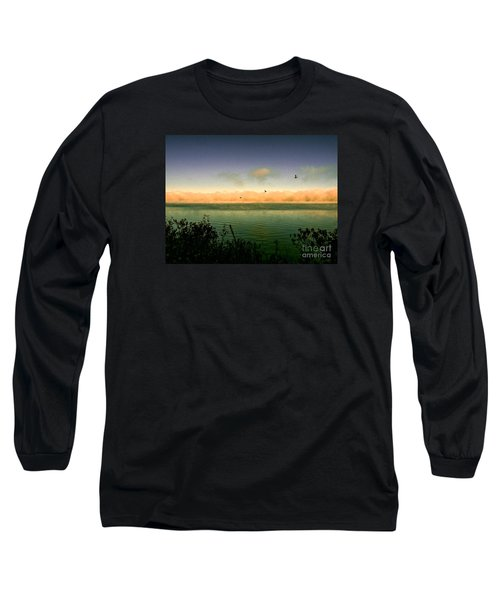 Good Morning Lake Winnisquam Long Sleeve T-Shirt by Mim White