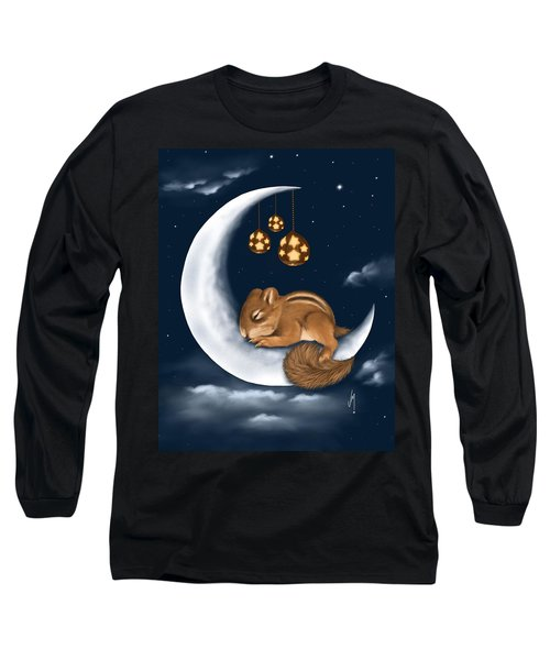 Long Sleeve T-Shirt featuring the painting Good Night by Veronica Minozzi