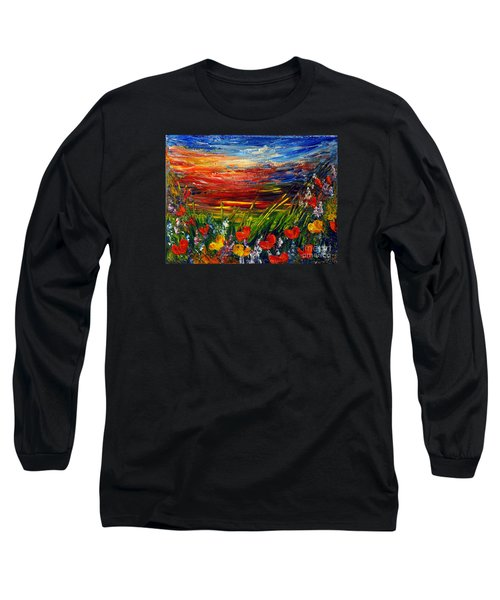 Long Sleeve T-Shirt featuring the painting Goodnight... by Teresa Wegrzyn