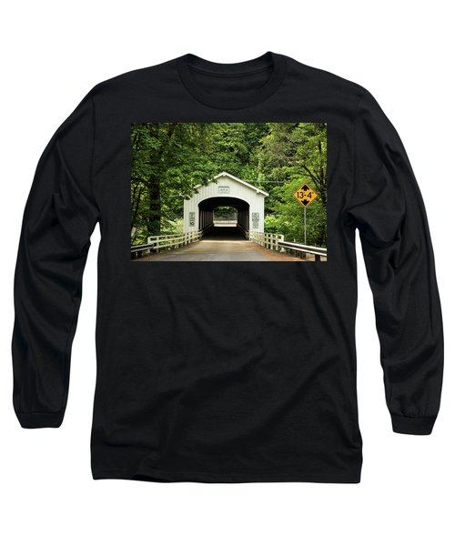 Goodpasture Covered Bridge Long Sleeve T-Shirt