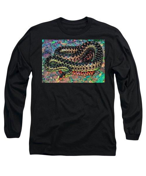 Long Sleeve T-Shirt featuring the photograph Gopher Snake by Pamela Cooper