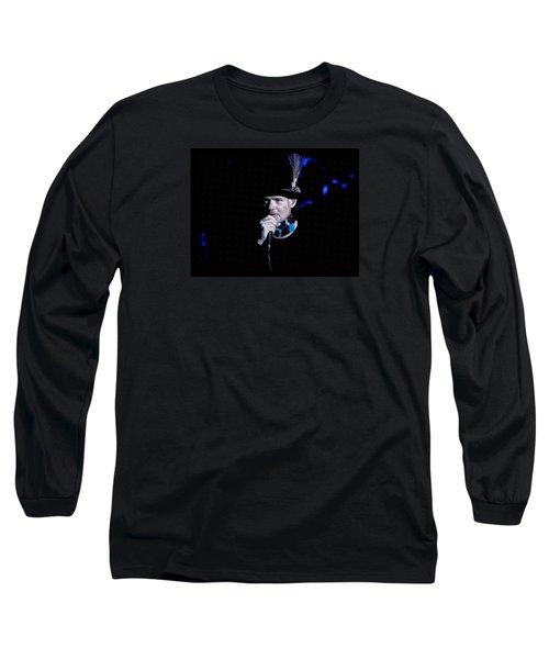 Gord Downie In Concert Long Sleeve T-Shirt by Maciek Froncisz