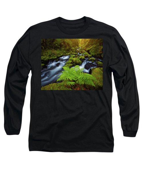 Long Sleeve T-Shirt featuring the photograph Gorton Creek Fern by Darren White