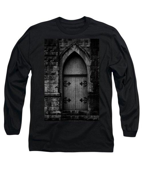 Gothic Door Memphis Church Bw Long Sleeve T-Shirt