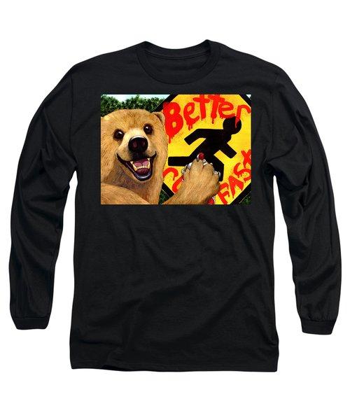 Graffiti Bear Long Sleeve T-Shirt