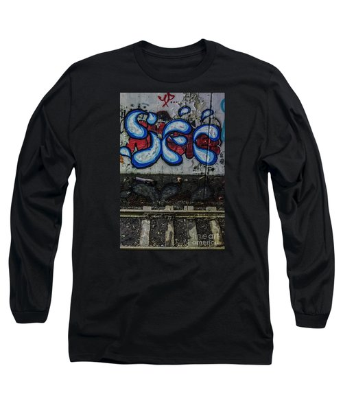 Graffitti And Train Tracks Long Sleeve T-Shirt