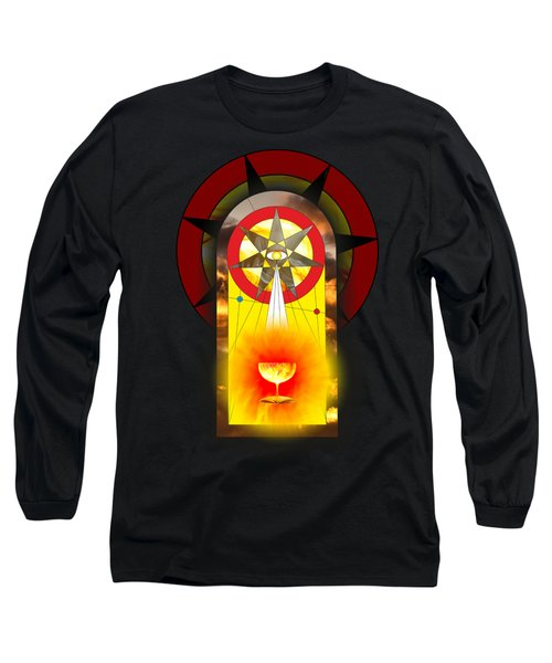 Grail Magic By Pierre Blanchard Long Sleeve T-Shirt by Pierre Blanchard