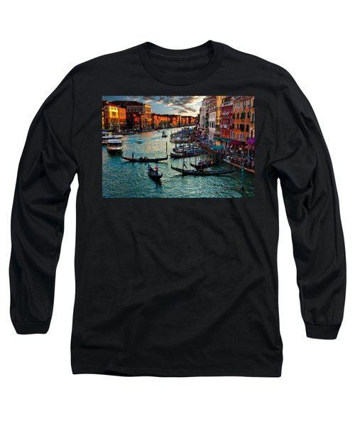 Grand Canal Sunset Long Sleeve T-Shirt by Harry Spitz