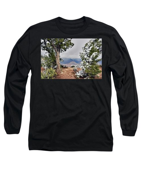 Grand Canyon Through The Trees Long Sleeve T-Shirt by Debby Pueschel