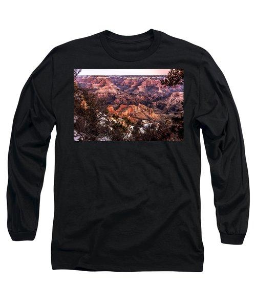 Grand Canyon Winter Sunrise Landscape At Yaki Point Long Sleeve T-Shirt