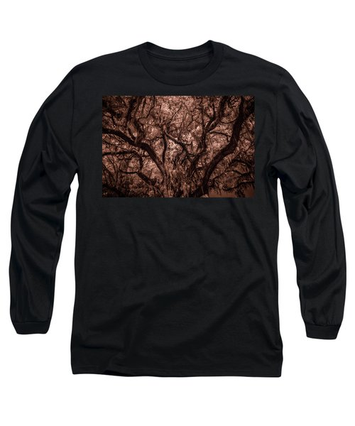 Long Sleeve T-Shirt featuring the photograph Grand Daddy Oak Tree In Infrared by Louis Ferreira