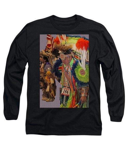 Grand Entry-3 Long Sleeve T-Shirt by Audrey Robillard