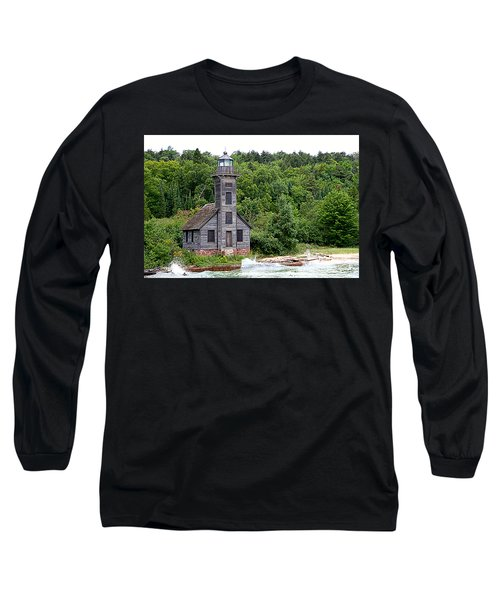 Long Sleeve T-Shirt featuring the photograph Grand Island East Channel Lighthouse #6680 by Mark J Seefeldt