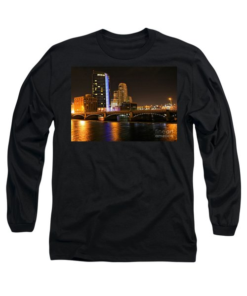Grand Rapids Mi Under The Lights Long Sleeve T-Shirt