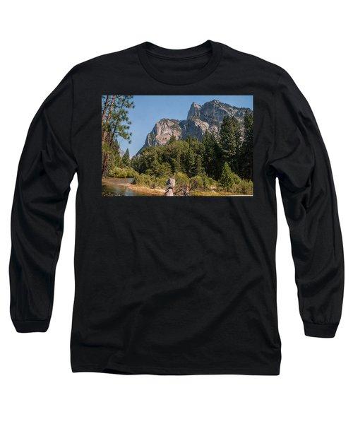 Grand Sentinel Zumalt Meadow Kings Canyon National Park Long Sleeve T-Shirt