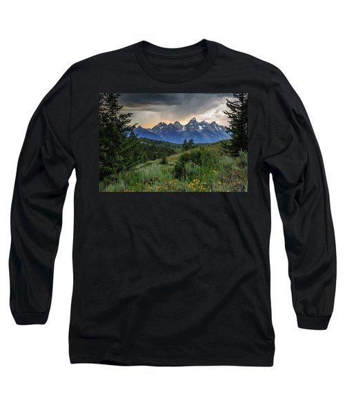 Long Sleeve T-Shirt featuring the photograph Grand Stormy Sunset by David Chandler