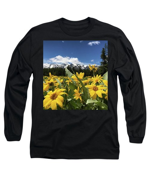 Grand Teton Mountains Long Sleeve T-Shirt