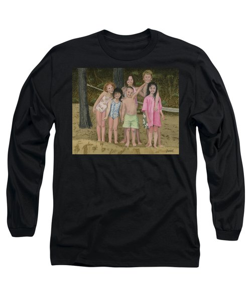 Grandkids On The Beach Long Sleeve T-Shirt
