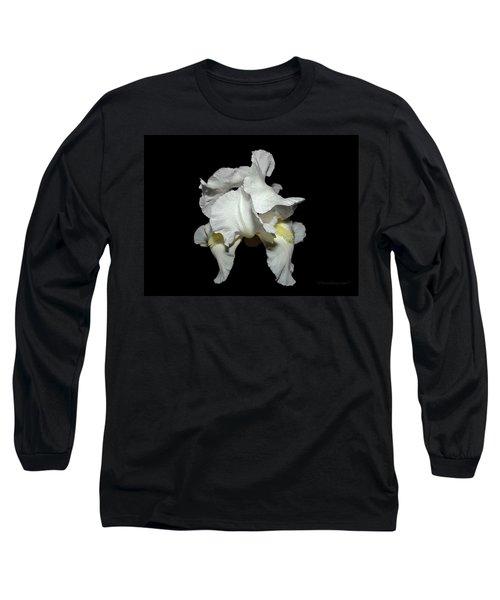 Grandma's White Iris Long Sleeve T-Shirt