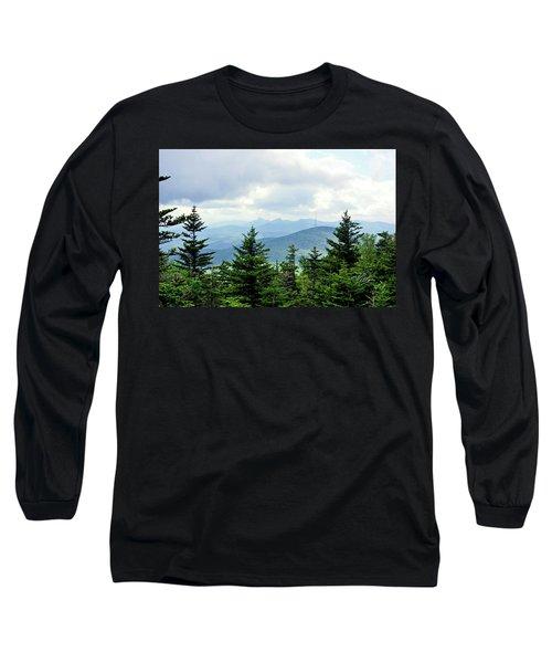 Grandmother Mountain Long Sleeve T-Shirt by Meta Gatschenberger